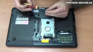 Інструкція по заміні жорсткого диска на ноутбуці Samsung NP300.
