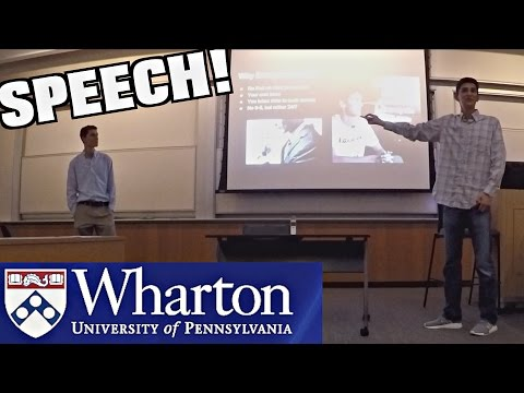 Speaking At The Wharton School Of Business!!