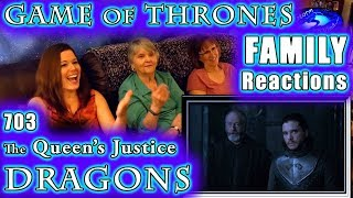 Game of Thrones | The Queen's Justice | 703 | FAMILY Reactions | DRAGONS | 1