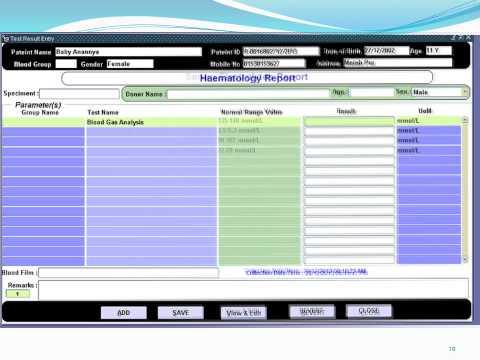 Hospital Management System (Bangladesh) : Pathology Module