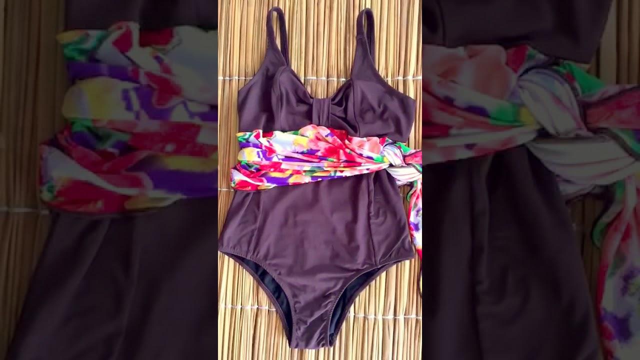 251c66b53 Maiô Plus Size Poliamida sem bojo Confortável 2 em 1 - YouTube