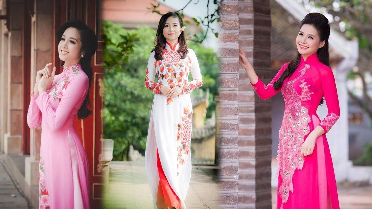 Các mẫu áo dài cách tân nữ đẹp hiện đại 2018 giá rẻ không thể bỏ qua