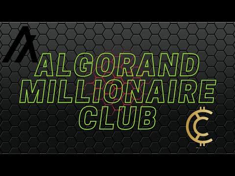 The Crypto Millionaire Club; Can Algorand ALGO Make You A Millionaire? Building The Portfolio