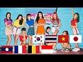 MOMOLAND모모랜드 'BAAM' Cover dance from - Korea,Thailand,Vietnam,Japan,Indonesia,Laos,France,Belgium