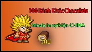 ►Ninja School Online | Sử Dụng 100 Bánh Khúc Chocolate...Made in sự kiện CHINA