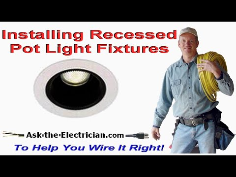 Recessed lighting flush lights and pot light installation youtube aloadofball Image collections