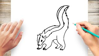 How to Draw a Skunk Step by Step for Kids