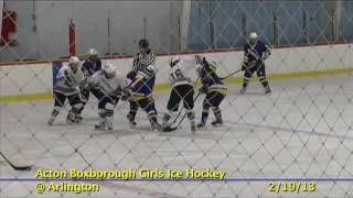 Acton Boxborough Varsity Girls Hockey vs Arlington 2/19/13