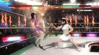 DOA5 Last Round Kokoro In Nurses Costume Vs  Kokoro In Velvet Schoolgirl Costume