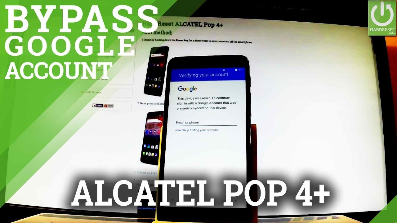 How to Bypass Google Verification in ALCATEL Pop 4+ - Skip Google FRP