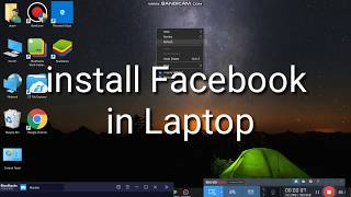 How to install Facebook in laptop 2020 || Download Facebook in PC