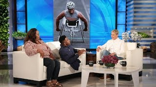 Ellen Meets an Inspiring College Wrestler and His Mom