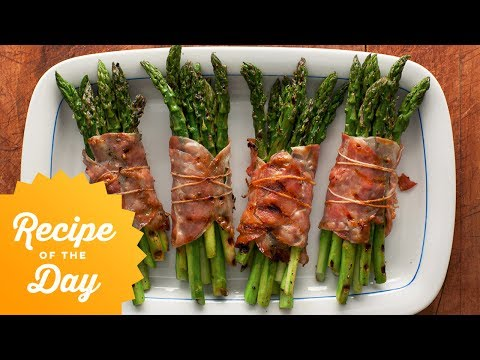 How to make crispy bacon wrapped asparagus
