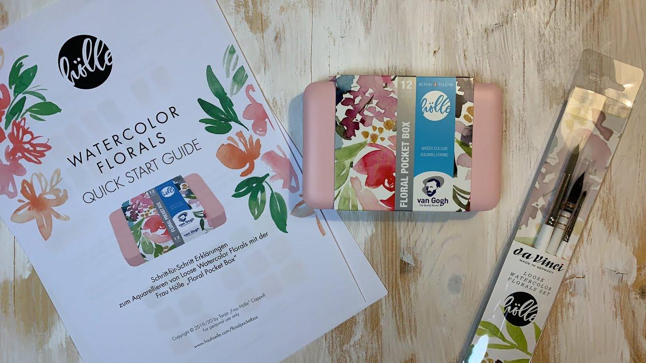 Loose Watercolor Florals Mit Der Floral Pocket Box Youtube