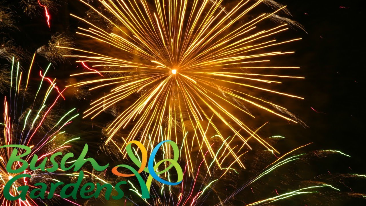 Summer Nights Fireworks Busch Gardens Tampa Youtube