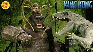 New King Kong Skull Island  Indominus Rex Vs Giant Spider Jurassic World Creature Contact Unboxing