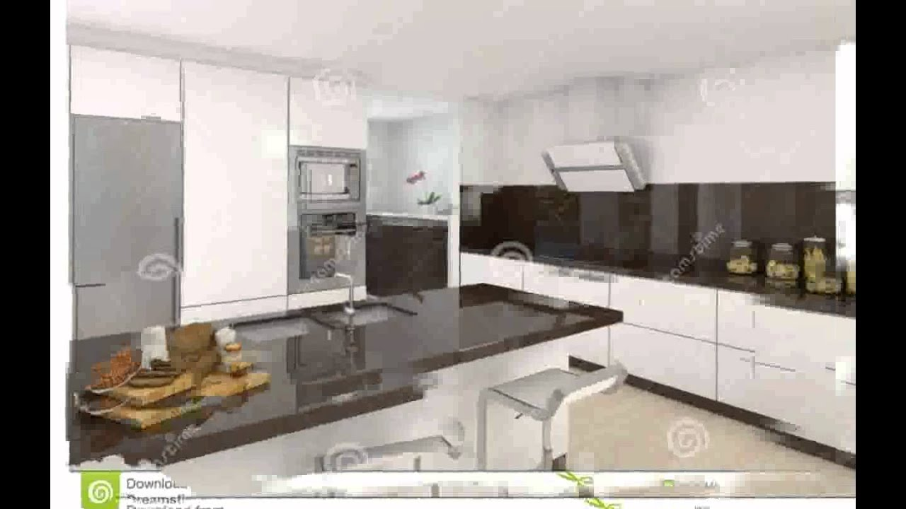 Cuisine moderne blanche youtube for Photos de cuisines