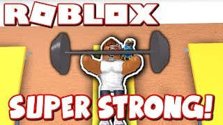 THE STRONGEST ROBLOX PLAYER EVER!! *GETTING BUFF AT GYM!*