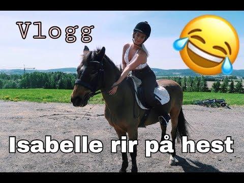Isabelle rir på hest - Hvordan gikk det? // Vlogg
