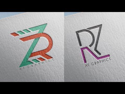 Logo Design Tutorial - How to Make | RZ  - ZR Logo Deisgn in - CorelDraw x7 thumbnail
