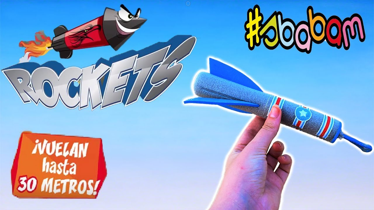 ROCKETS | sbabam | Cohete espacial volador Rockets | vuela 30 metros ...