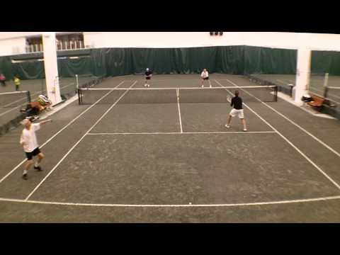 Example Of Filmed Tennis Match On Indoor Tennis Court