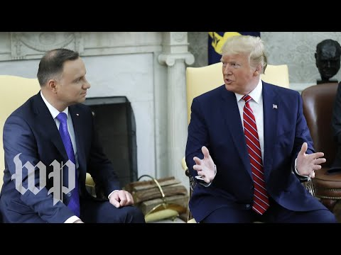 Watch: Trump meets with Poland's president at White House