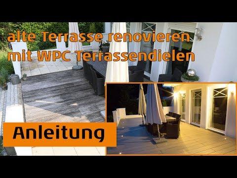 Alte Terrasse renovieren mit WPC Terrassendielen