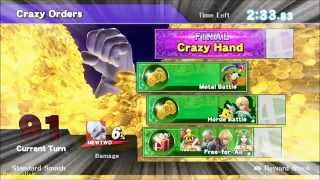 Super Smash Bros Wii U: Crazy Orders 99+ turns as Custom Glitched Mewtwo  [v1.06 only]