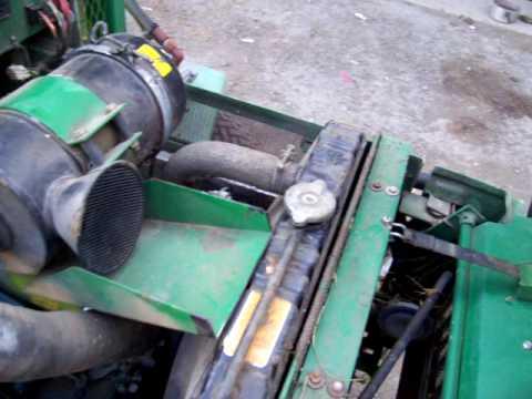 RANSOMES 350D Reel Mower Kubota V1702 engine idling