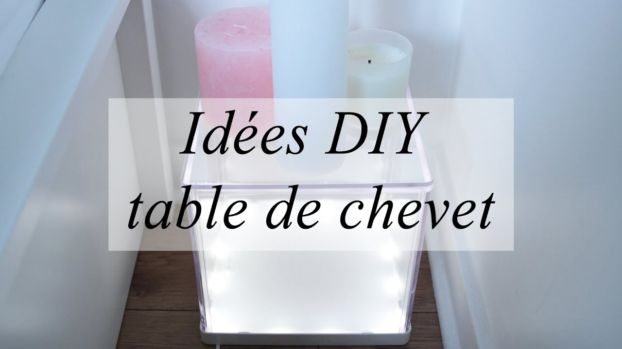 Id es diy d co pour des tables de chevet originales - Fabriquer table murale rabattable ...
