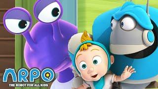 Alien ABDUCTION - ARPO the Robot | | Cartoons for Kids | Robot Animation