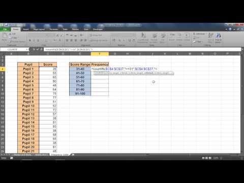 Create a Frequency Distribution Table in Excel