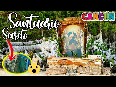 ⛪ Descubrimos 1 SANTUARIO secreto CANCUN 😱 Cómo llegar? ❤️ Virgen MILAGROSA MARIA DESATANUDOS ✅