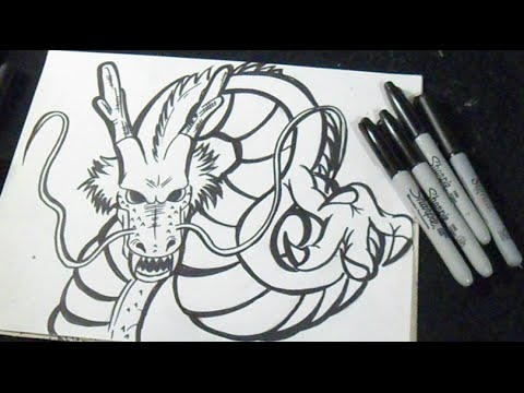 Comment Dessiner Dragon Shenron Dragon Ball Z Youtube