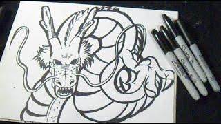 "comment dessiner dragon | Shenron ""Dragon Ball z"""