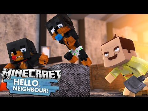 Minecraft HELLO NEIGHBOUR - BABY DUCK TURNS INTO THE NEIGHBOUR - Donut the Dog Minecraft Roleplay thumbnail
