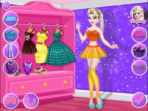Мультик игра Холодное сердце: Одевалка Эльза (Elsa Dress Designer)