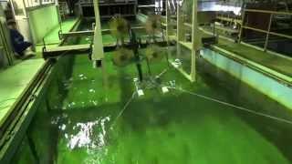 浮体式洋上風車 Water tank experiment of Floating Axis Wind Turbine (FAWT)