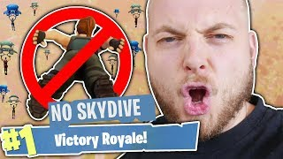 NO SKYDIVING CHALLENGE!! - FORTNITE BATTLE ROYALE!! thumbnail