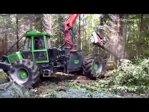 NOE NF 210-4R mit Log Max 4000 Harvester Agregat