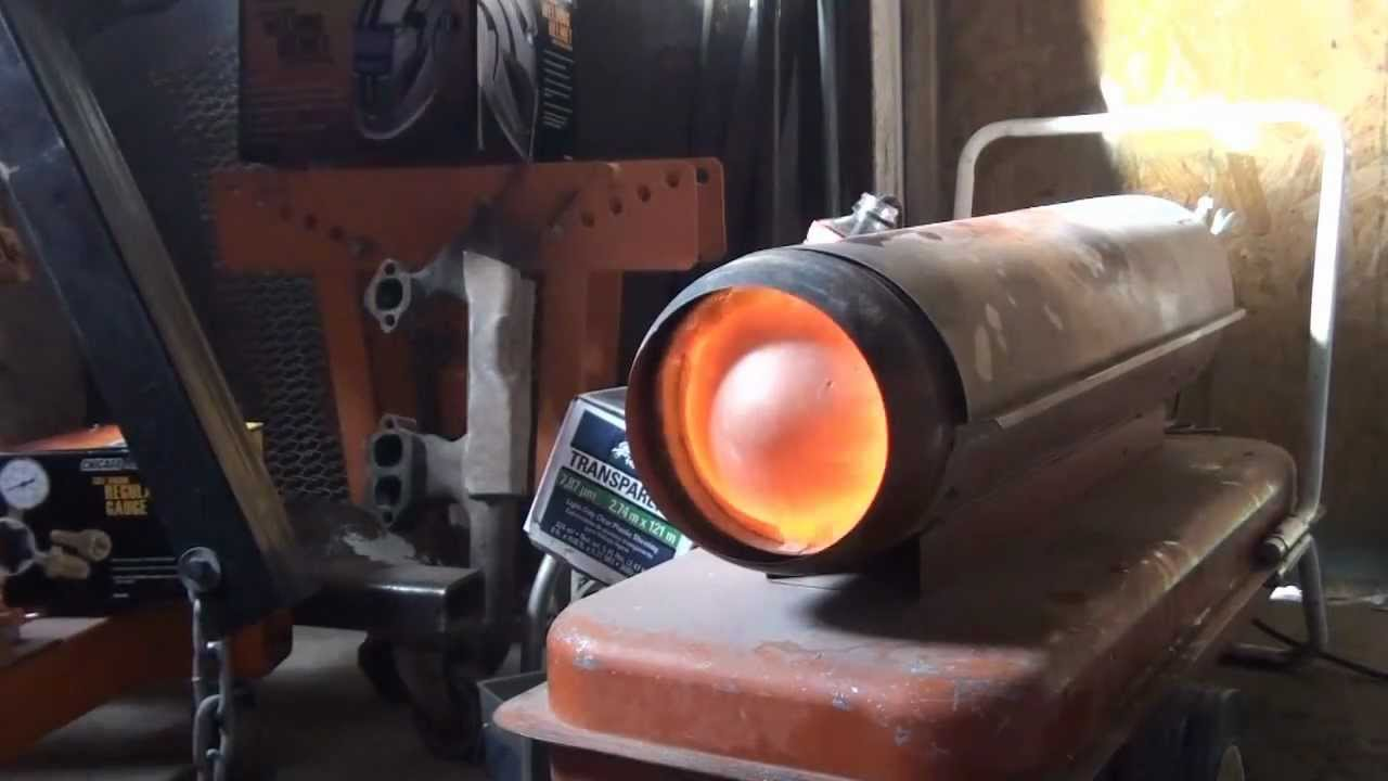 Converting A Shop Heater To Run On Waste Oils Youtube