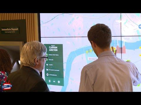 Lloyds bank showcase their digital branch concept in Clapham Junction