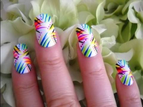 Summer Nail Tutorial - Graffiti - Request