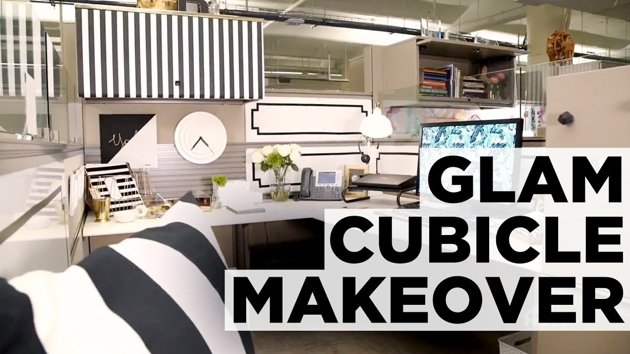 Hollywood Glam Cubicle Makeover Hgtv Youtube