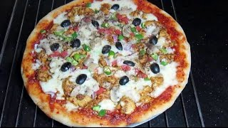 HOW TO MAKE PIZZA | PIZZA RECIPE WITH PIZZA DOUGH, PIZZA SAUCE
