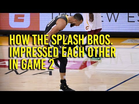 NBA Finals: How the Splash Bros. impressed each other in Game 2