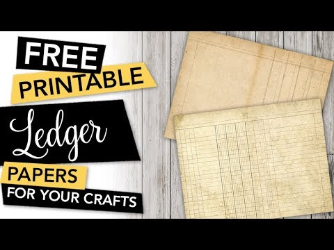 picture relating to Free Printable Paper Crafts identified as Totally free Printable Ledger Papers for Als, Magazines and other Paper Crafts  FREEBIE