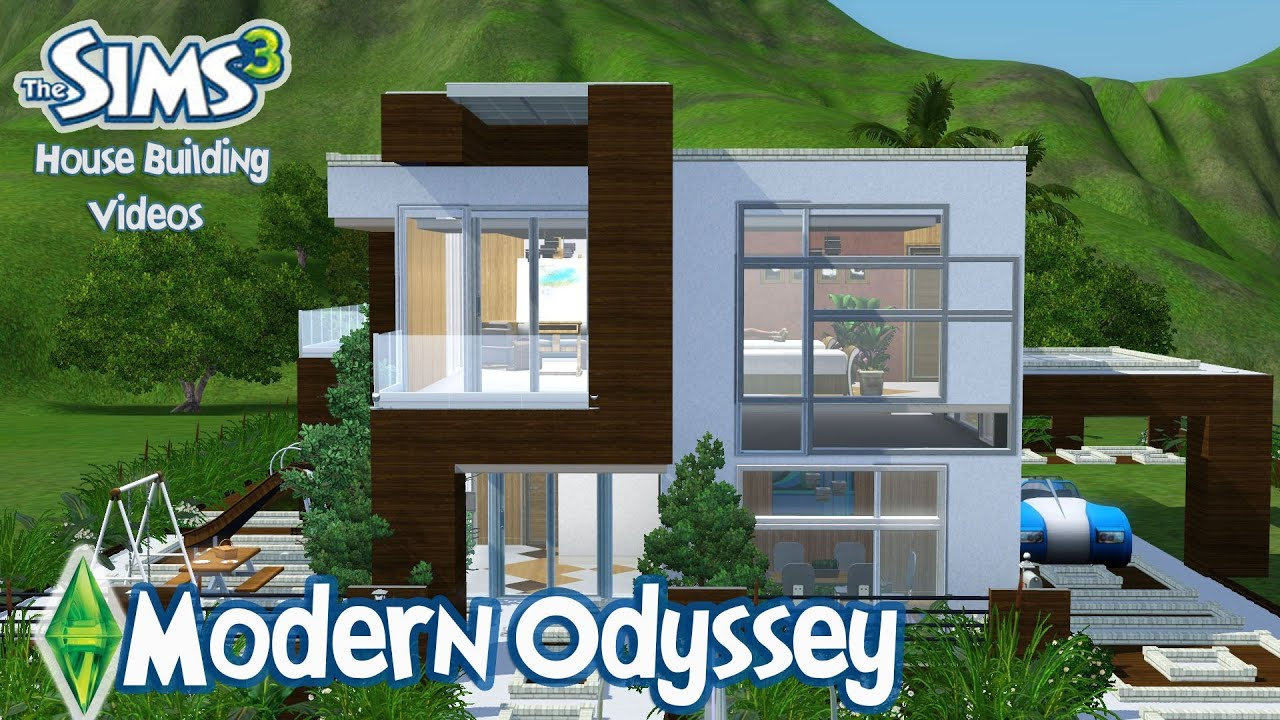 The Sims 3 House Designs - Modern Odyssey - YouTube