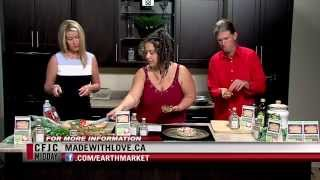 French Style Pizza - Tomato Basil Kale Galette - Easy Real Whole Food Fast - Made With Love Cfjc Tv